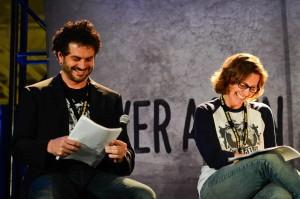Jason Cabassi and Karen Koppett, hosts of The Walking Dead Cast